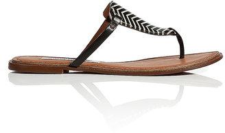 Diane von Furstenberg Leather Safari Sandals