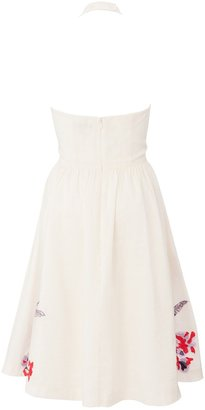 French Connection Eudora Embroidered Halter Dress