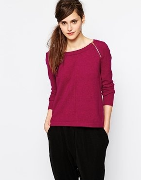 French Connection Knitted Sweater with Zip Detail