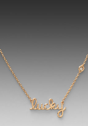Sydney Evan Shy by Lucky Necklace with Diamond