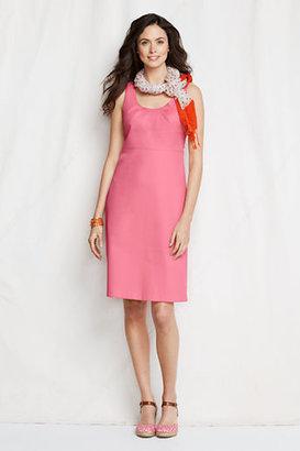 Lands' End Women's Petite Stretch Pique Empire Dress