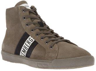 Bikkembergs logo strip hi-top sneaker