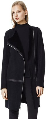 Theory Gabrinia Coat in Mitchell Leather