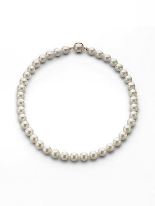 Majorica 10MM White Pearl Necklace/18""