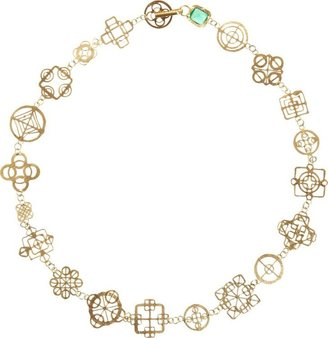Judy Geib Women's Emerald & Gold Casino Royale Short Necklace-Colorles