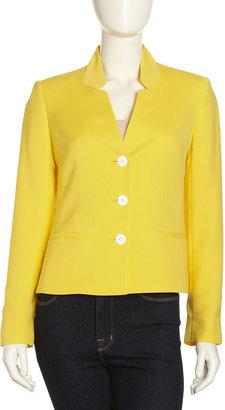 Lafayette 148 New York Menon Invert-Collar Jacket, Lemon Drop