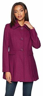 Kensie Women's Wool Skirted Coat