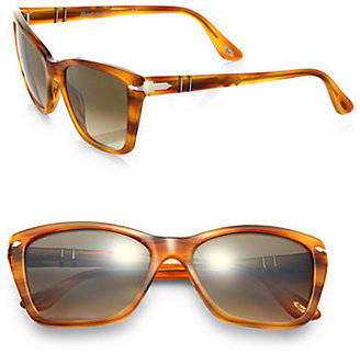 Persol Square Cat's-Eye Acetate Sunglasses