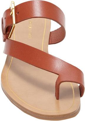 Sergio Rossi Buckle Toe-Band Flat Sandal