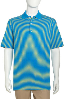 Bobby Jones Thin-Stripe Polo Shirt, French Blue