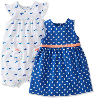 Carter's Baby Girls' 2-Pack Romper & Dress Set
