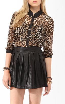Forever 21 Sheer Cheetah Print Shirt