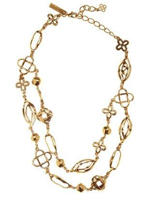 Oscar de la Renta Mosaico Tiered Necklace