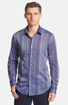 HUGO BOSS 'Ronny' Slim Stripe Sport Shirt
