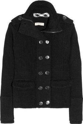 Burberry Chunky-knit wool jacket