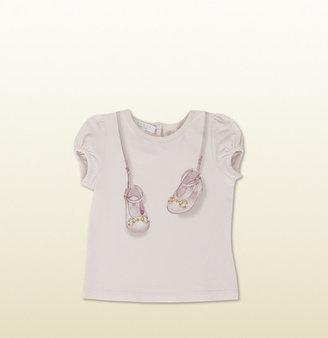Gucci Short Sleeve T-Shirt With Ballerinas Print.