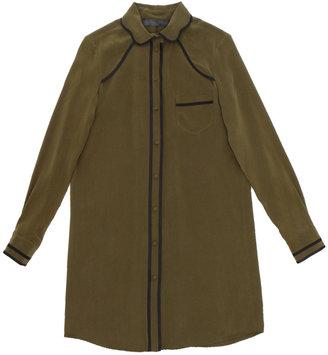 Proenza Schouler Long Sleeve Silk Shirt Dress
