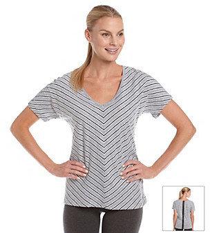 Calvin Klein Stripe Zip-Back Tee