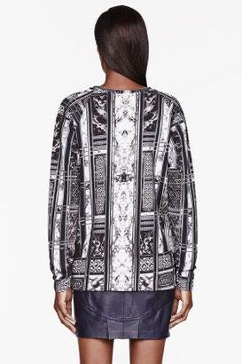 Balmain Black & White Printed shirt