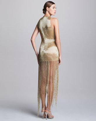 Naeem Khan Sequined Fringe Dress
