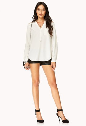 Forever 21 Essential Lace Paneled Top