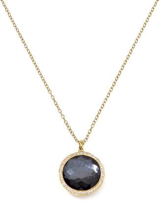Ippolita Diamond & Hematite Lollipop Pendant Necklace