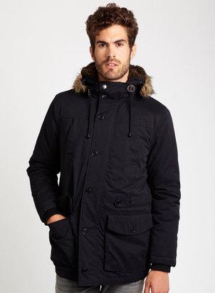 Burton Navy Faux Fur Trim Parka Jacket