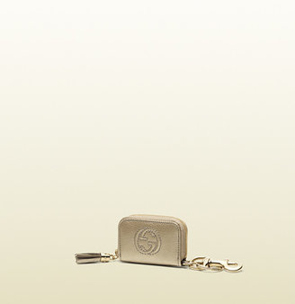 Gucci Soho Metallic Leather Wallet Charm