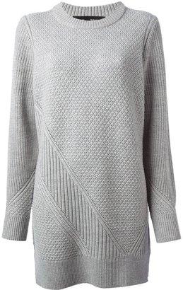 Proenza Schouler check knit sweater dress