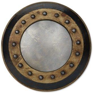 Williams-Sonoma Dotted Wood & Iron Mirror