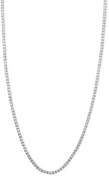 """Macy's 14k White Gold Necklace, 18"""" Box Chain (5/8mm)"""