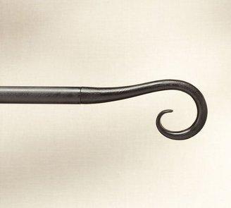 Pottery Barn Cast-Iron Scroll Finial Drape Rod