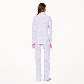J.Crew Vintage pajama set in dotted stripe
