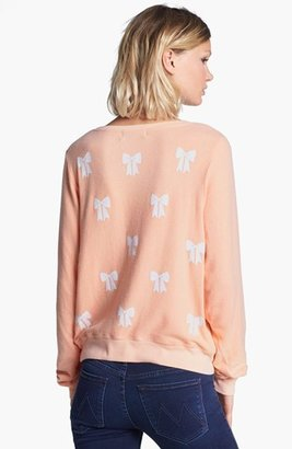 Wildfox Couture 'Baby Bow' Fleece Sweatshirt