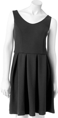 Lauren Conrad textured fit & flare dress - women's