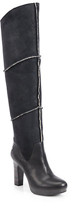 UGG Dreaux Leather Over-The-Knee Boots