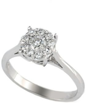 EFFY Bouquet 14 Kt. White Gold Diamond Ring
