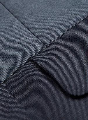 Topman Blue Colour Block Skinny Suit Jacket
