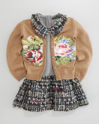 Dolce & Gabbana Floral Intarsia Cardigan