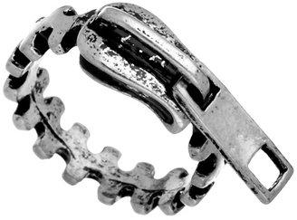 Blu Bijoux Silver Zipper Ring