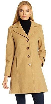 Larry Levine Womens Classic Collar Walker Coat