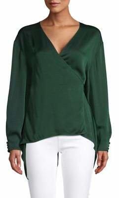 Diane von Furstenberg Long-Sleeve Wrap Blouse