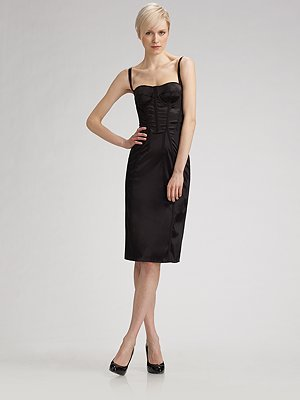 Dolce & Gabbana Satin Corset Dress