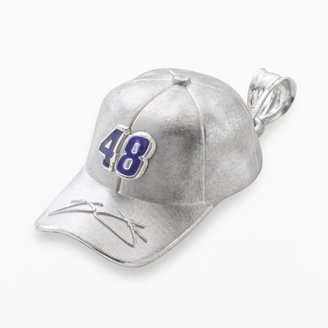 "Insignia Collection NASCAR Jimmie Johnson Sterling Silver ""48"" Baseball Cap Pendant"
