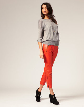 Vero Moda Cropped Leather Pants