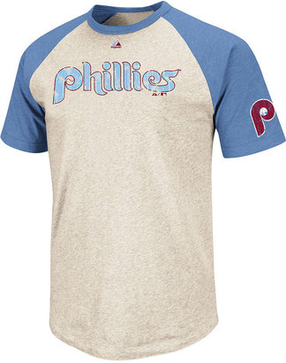 Majestic MLB Cooperstown Collection Shirt, Philadelphia Phillies All-Star Raglan T-Shirt