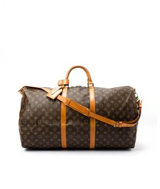 Louis Vuitton Pre-owned: brown monogram canvas 'Keepall 60 Bandouliere' bag