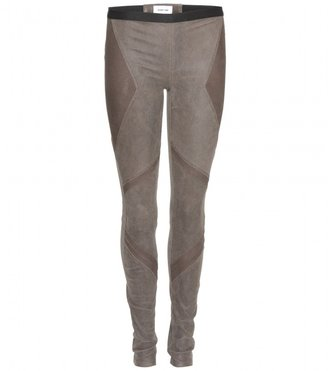 Helmut Lang PATINA AMOUR SUEDE LEGGINGS