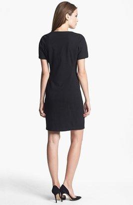 Donna Ricco Zipper Detail Sheath Dress