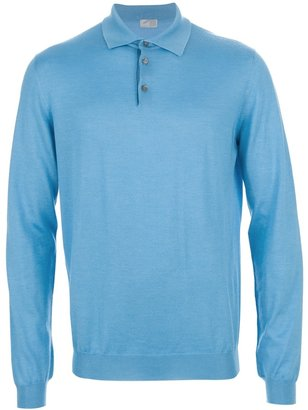 Malo long sleeve polo shirt